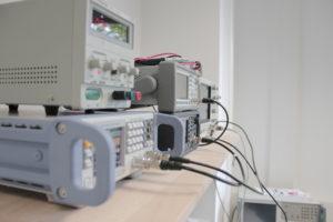 Messplatz für die Ultraschallgeräteprüfung